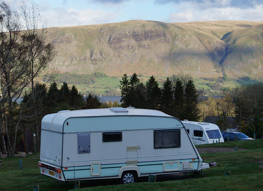 Long stay pitch available for a tourer.