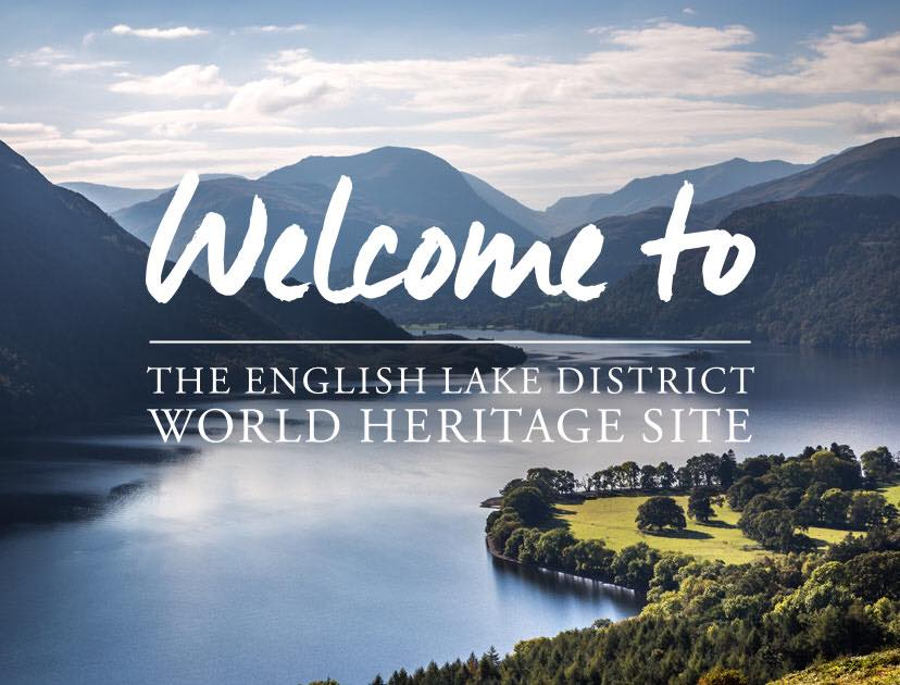 New World Heritage Logo features a picture of Ullswater